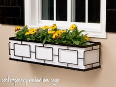 Very cool window box ideas but white will be hard to keep white.
