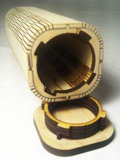 Tubular Kerf Box, open
