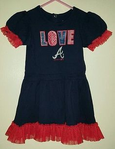 Atlanta Braves toddler 3T t-shirt dress