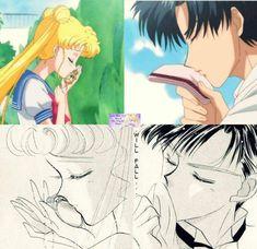 Sailor Moon Crystal - Act 7 Usagi x Mamoru Darien Sailor Moon, Sailor Moon Usagi, Sailor Uranus, Sailor Moon Art, Sailor Moon Background, Sailor Moon Wallpaper, Sailor Moon Crystal, Sailor Moon Character, Moon Princess