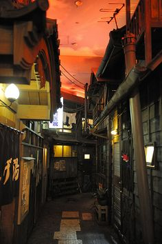 Night Back alley in Tokyo