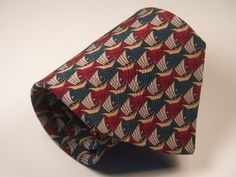 "M.C. Escher men's silk tie ""Fish & boats - Symmetry E72, 1948"""