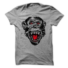 This is a great gift for Monkey lovers The Angry Monkey Tee Shirts T-Shirts