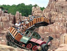 thunder mountain railroad, a roller coaster in magic kingdom, walt disney world. its a mild roller coaster, good for the family. Walt Disney World, Disney World Resorts, Disney World Rides, Disney World Vacation, Disney Vacations, Disney Trips, Disney Travel, Family Vacations, Family Travel