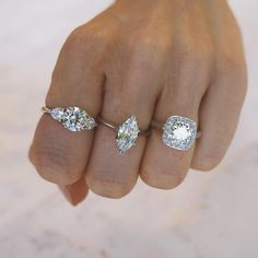 The Signature Collection. Naveya & Sloane engagement ring, made to order in Auckland, New Zealand. Gemstone Engagement Rings, Designer Engagement Rings, Naveya And Sloane, Signature Collection, Fine Jewelry, Jewellery, Ring Designs, Diamond Earrings, Silver Rings