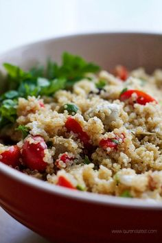 Mediterranean Quinoa Salad. A great side dish to compliment any meal. #laurenslatest #quinoa
