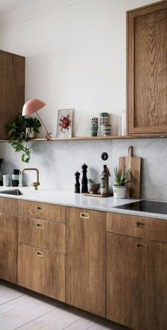 the All-White Kitchen Trend Finally Over? - : Is the All-White Kitchen Trend Finally Over? - the All-White Kitchen Trend Finally Over? - : Is the All-White Kitchen Trend Finally Over? Scandinavian Kitchen, Scandinavian Interior Design, Home Interior, Interior Design Kitchen, Contemporary Interior, Scandinavian Style, Interior Ideas, Country Interior, Kitchen Interior