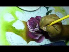 Vida com Arte   Pano de copa pintura rosas e hortências por Luis Moreira - 28 de janeiro de 2016 - YouTube