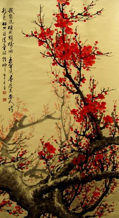 fresque cerisier japonais Version Voyages, www.versionvoyages.fr