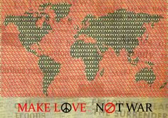 'Make Love, Not War' Anti-War Poster