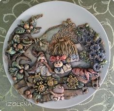 Декор предметов Лепка Кубань Времена года Тесто соленое фото 3