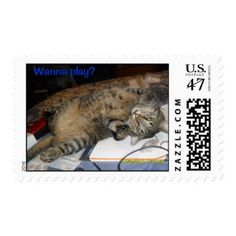 Wanna play? postage stamp
