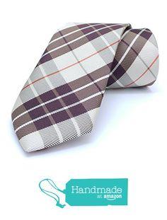 "Brown, beige striped, plaid men's tie 7.5 cm (2,95"") SL-343 from Nazo Design https://www.amazon.com/dp/B01FPWIUPO/ref=hnd_sw_r_pi_dp_mdJ6xbVPDKJ61 #handmadeatamazon #nazodesign"