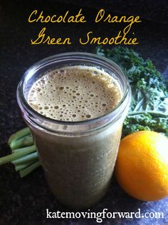 Chocolate Orange Green Smoothie recipe--quick, easy, and healthy! The perfect, healthy breakfast recipe for summer!