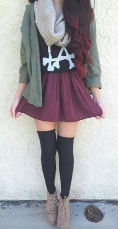 love love love this, for younger kids, take away heels and add combat boots the same, or resembling, to that color.