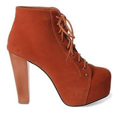 Rust Sexy Laides High platform High heels Ankle boots