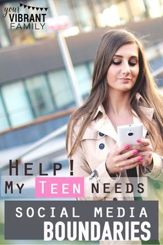 How can we help our teens and tweens develop healthy social media self control? Raising Teenagers, Parenting Teenagers, Parenting Books, Parenting Advice, Parenting Classes, Parenting Styles, Foster Parenting, Social Work, Social Skills