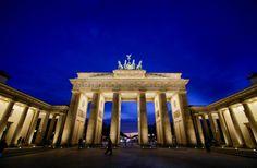 Berlim: Portão de Brandemburgo.  Berlin: Brandenburger Tor.