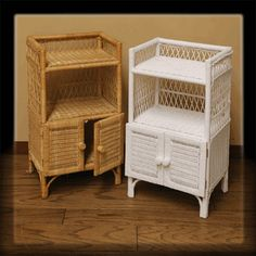Wicker Shelf Unit With Doors Via Wickerparadise Cute Bathroom Storage