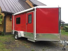 Stealthy Cargo Trailer Tiny House with Bump Out Home Made Camper Trailer, Utility Trailer Camper, Bug Out Trailer, Cargo Trailer Camper Conversion, Cargo Trailers, Diy Camper, Camper Trailers, Camper Van, Camper Ideas
