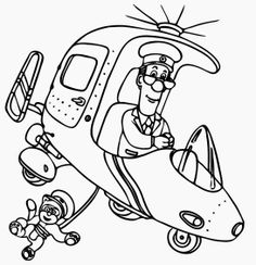 Postman Pat the Movie - Coloring Page