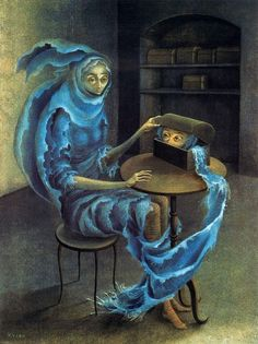 The Meeting (Abut) - Remedios Varo, 1959 Oil on Canvas.