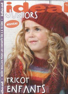 catalogue IDEAL TRICOT JUNIORS pour enfants n-1 : Matériel Tricot par angelinatricote Knitting Books, Knitting For Kids, Baby Knitting Patterns, Lace Knitting, Knit Crochet, Knitting Magazine, Crochet Magazine, Mode Junior, Crochet Fashion