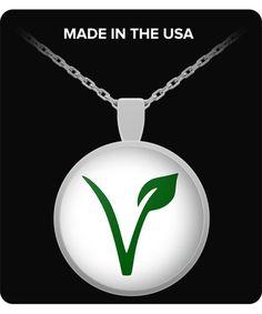 Vegan Pride Pendant Necklace  Vegan Gift by BeautifulJewelryByMk