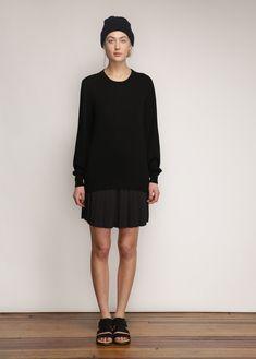 A.P.C. Black High School Skirt