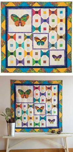 Butterflies For Amy Two Quilt Kit