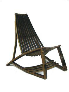 Whiskey barrel lounge chair