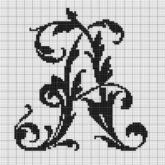 alphabet A leafy glade free chart