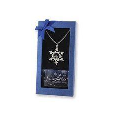 "Winter's Precious Jewels ""Long"" Snowflake Pendant"