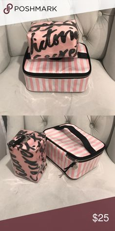 Make Up Bags Victoria Secret pink and perfect make up bags Victoria's Secret Bags Cosmetic Bags & Cases