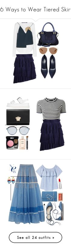 """""""16 Ways to Wear Tiered Skirts"""" by polyvore-editorial ❤ liked on Polyvore featuring waystowear, tieredskirts, Jacquemus, Christian Dior, Chloé, Marco de Vincenzo, Gianvito Rossi, Proenza Schouler, STELLA McCARTNEY and Versace"""
