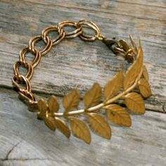 gold leaf bracelet, on my wish list