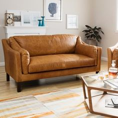 Shop For Reginald Charme Russet Leather Sofa. Get Free Shipping At  Overstock.com