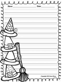 ✏️Writing ~ Halloween Write This Way ~ Decorative Printable Lined October Paper Printable Lined Paper, Lined Writing Paper, 1st Grade Activities, Different Lines, Halloween Ideas, Stationary, Classroom, Printables, Suit