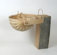 Nautilus basket II by Scott Gilbert. Entry in the Hart County Kentucky White Oak Basket Contest, Place 1 Place, Hard Wood, Nautilus, White Oak, Kentucky, Baskets, Weaving, Home Decor, Decoration Home