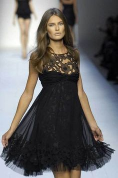 black short and sweet lace dress