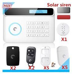 Smart Home Alarm Etiger S4 Wireless Smart home Saftey GSM Alarm system Security Alarm system with Solar strobe flash siren