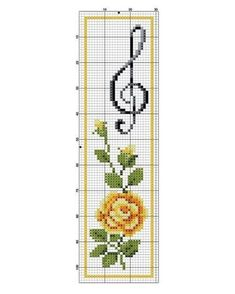 This Pin was discovered by Zsu Cross Stitch Music, Tiny Cross Stitch, Cross Stitch Books, Cross Stitch Bookmarks, Crochet Bookmarks, Cross Stitch Heart, Cross Stitch Flowers, Cross Stitch Designs, Cross Stitch Patterns