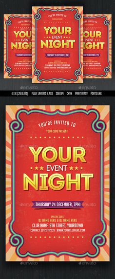 Summer Holiday Party Flyer template, Template and Party flyer - holiday party flyer template