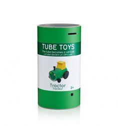Each Tube Toy comes with components like stickers and wheels inside a cardboard tube that becomes the body of the car, fire engine, train or tractor, with pre-cut slots for easy assembly. Modern Kids Toys, Les Enfants Sages, Projects For Kids, Crafts For Kids, Le Tube, Fire Engine, Designer Toys, Dezeen, Toy Store