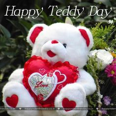 Teddy Day is the best time to gift your friends and loved ones with soft and beautiful teddies and express your feelings to them. In Valentine's Week Teddy day falls on February 2014 and… Happy Teddy Bear Day, Cute Teddy Bear Pics, Teddy Bear Images, Teddy Day, Big Teddy Bear, Teddy Bear Pictures, Happy Valentines Day Sms, Happy Birthday Love Quotes, Happy Birthday Pictures