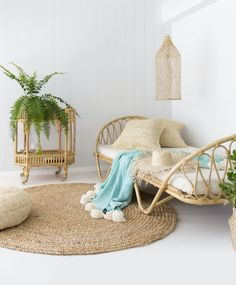 15 Rattan Decor Ideas for Your Home - Rattan furniture is timeless. This outdoor furniture has become a trend over the years. These days, rattan is not just a material for outdoor furn. Rattan Daybed, Rattan Furniture, Furniture Design, Outdoor Furniture, Cane Furniture, Daybeds, Daybed Design, Estilo Tropical, Decorate Your Room