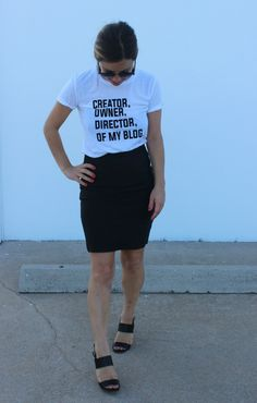 Creator, Owner, and Director of My Blog T-shirt