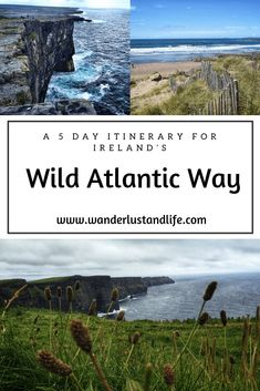 If you are wanting to see the Wild Atlantic Way in 5 days this guide is for you. From the most popular places to the hidden gems along the Wild Atlantic Way we provide our recommendations. Here is our Wild Atlantic Way guide. Ireland Travel Guide, Europe Travel Tips, European Travel, Travel Guides, Amazing Destinations, Travel Destinations, Driving In Ireland, Wild Atlantic Way, Riad