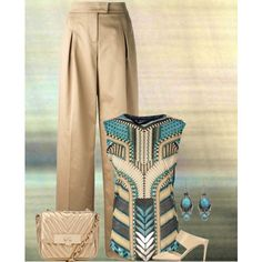 """Sand and Turquoise"" by gale-strother on Polyvore"