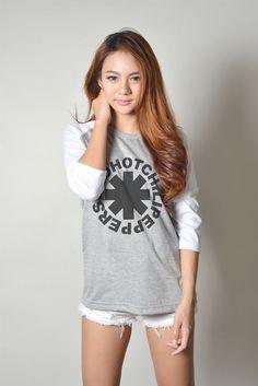 Red Hot Chili Peppers Shirt Alternative Rock Baseball Tee Shirt Women T-Shirt #Handmade #GraphicTee